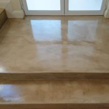Decorative coloured cement floors